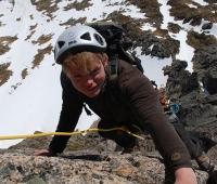 Molladalen - Petter Winther på toppflanken på sørvestegga 2013